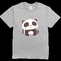 可爱的大熊猫舒适彩色T恤