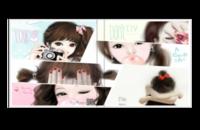 简洁 少女 日韩风 女孩手绘 小清新 唯美 卡哇伊 青春 线条 边框 花边-6x6照片书