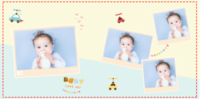 手绘可爱宝宝成长记(生辰、百天、周岁)等风也等你的美好生活-小汽车-星光贝贝20p
