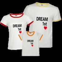 梦想-时尚撞色亲子装T恤