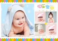 快乐宝贝的彩色童年 美好记忆9181507-B2单面横款印刷海报