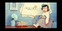 韩式幸福宝贝成长树纪念好运宝贝-15x30cm拉菲版画 横款