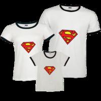 亲子超人装-时尚撞色亲子装T恤