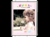 宝贝的成长档案(页内外照片可替换)-A4时尚杂志册(26p)