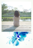 水墨蓝-彩边拍立得竖款(36张P)