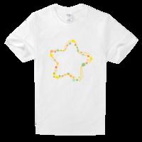 星星高档白色T恤