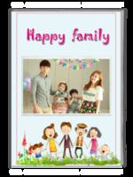 幸福的家庭-快乐的家庭-亲子-全家福(照片可换)-A4杂志册(32P)