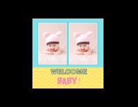 welcome baby-绒面单面抱枕