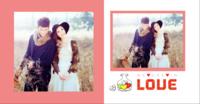 你,注定是我今生倾心驻足的风景---爱情 情侣 简洁 甜美-方8硬壳照片书40p