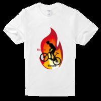 自行车运动舒适白色T恤