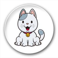 可爱猫咪-2.5徽章