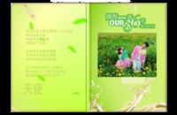 【爱在春天里】(绿色经典,适合婚纱照,蜜月照,旅行照 封面及内页人物可替换)-8x12高清银盐照片书