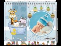 2018可爱小动物的欢乐园-8寸双面印刷台历