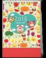 2018-可爱卡通-萌宝贝-10寸竖款双面