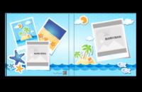 卡通超萌海边美丽风光拍立得风格儿童成人通用模板-8*8照片书