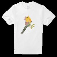 鸟儿说信任很简单舒适白色T恤