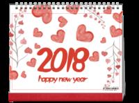 水彩手绘2018年台历-10寸双面印刷台历