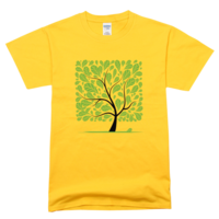 卡通大树舒适彩色T恤