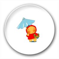 打伞的小孩-4.4个性徽章