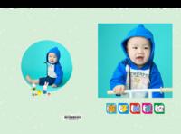 小小骑车行-亲子-萌宝宝-儿童-照片可换-硬壳对裱照片书20P