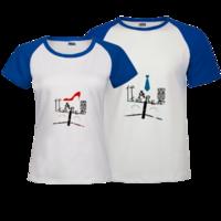 伐木累-时尚插肩情侣装T恤