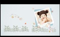 可爱小斑马-宝贝快乐成长纪念-8X8锁线硬壳精装照片书40p