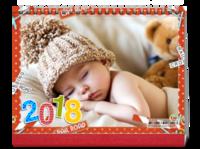 2018快乐宝贝-8寸双面印刷跨年台历
