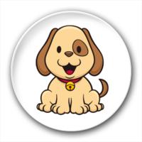 可爱的小狗-3.2个性徽章