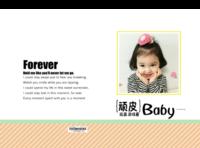 顽皮baby-萌娃-宝贝-照片可替换-8x12对裱特种纸30p套装