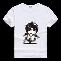可爱熊小猫母版-男款莫代尔T恤