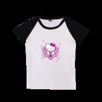 矢量 卡通 可爱动物 人物-时尚童装插肩T恤