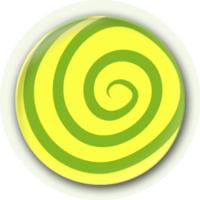 创意简洁黄绿色棒棒糖图案-4.4个性徽章图片