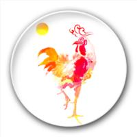 鸡鸣东方-5.8个性徽章