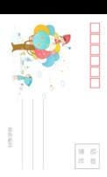 儿童可爱潮流插画系列彩色童年的美好记忆4-长方留白明信片(竖款)套装