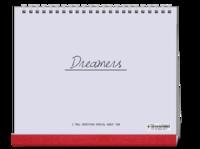 Dreamers追逐梦想勇敢前行-图文可改-时尚极简风-10寸单面印刷台历