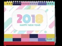 2018七彩颜色 多彩的世界 宝贝儿童可爱小萌娃成长留念-10寸单面印刷台历