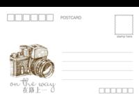 on the way(通用) 青春 爱情 旅行旅游纪念-正方留白明信片(横款)套装