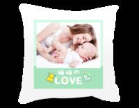 妈妈的love 爱的礼物 亲子宝贝成长纪念-短皮绒面双面抱枕