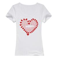 让爱填满母版-女款纯棉白色T恤