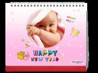 新年快乐卡通、儿童-10寸单面跨年台历