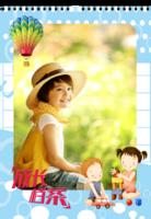 成长档案 快乐童年 儿童成长写真台历 记录幸福点滴-A3挂历