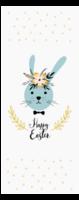 可爱幸福小兔子-定制单面书签