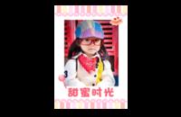 甜蜜时光(图片可换)可爱亲子写真旅行全家福-8x12印刷单面水晶照片书21p