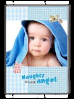淘气天使(记录宝宝出生、宝宝满月、宝宝过周等照片哦)-A4杂志册(40P)