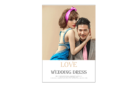 婚纱模版---爱的嫁衣-8x12印刷单面水晶照片书20p