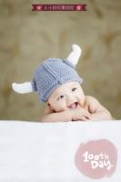 可爱韩风-宝贝的百天纪念 祈愿宝宝长命百岁-24寸竖式海报