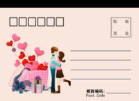 情人节明信片-18张全景明信片(横款)