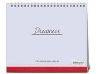 Dreamers追逐梦想勇敢前行-图文可改-时尚极简风-10寸单面跨年台历