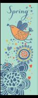 花开的季节 鸟语花香 多款图案-定制单面书签