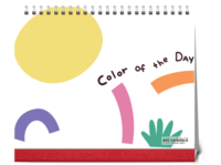 color of the day 彩色时光-10寸单面跨年台历